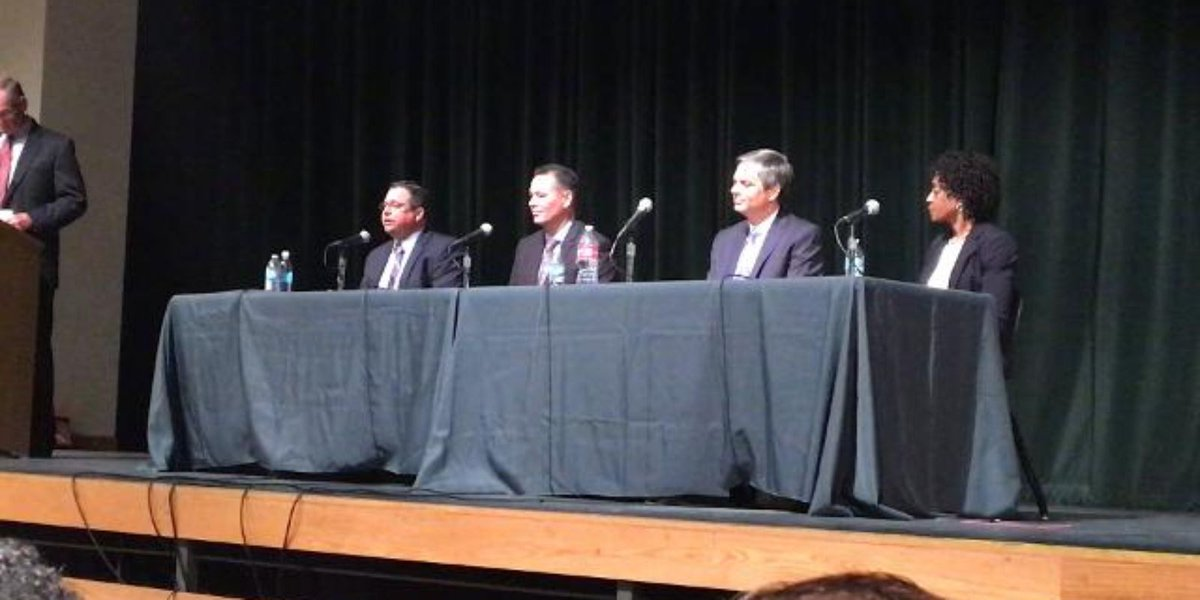 Shane McCord at a public forum for Gilbert Public Schools