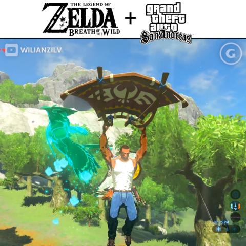If GTA San Andrea's CJ was in Zelda Breath Of The Wild...Original video