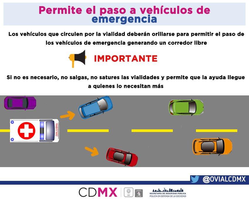 De ser posible, no utilicen su auto. De hacerlo, mantengan libre paso a unidades de emergencia. https://t.co/HISpVUT0pw