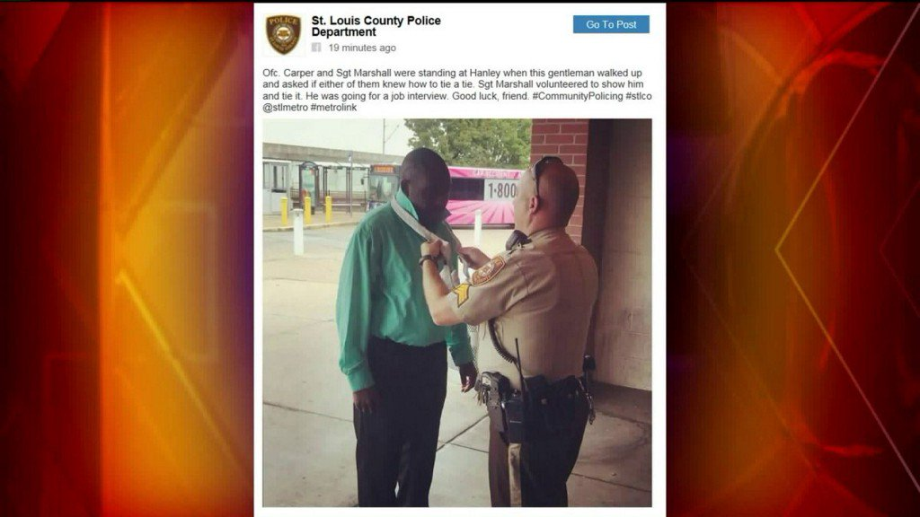 County police officers help citizen ace jobinterview