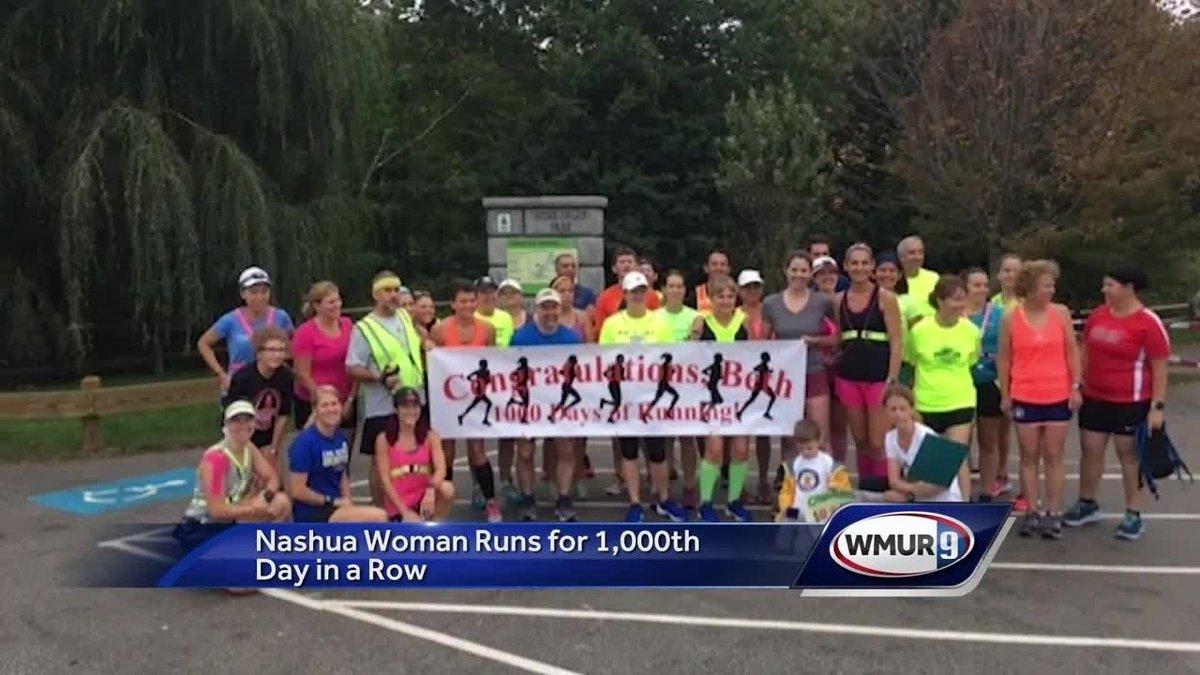 Nashua woman runs 1,000 days in a row