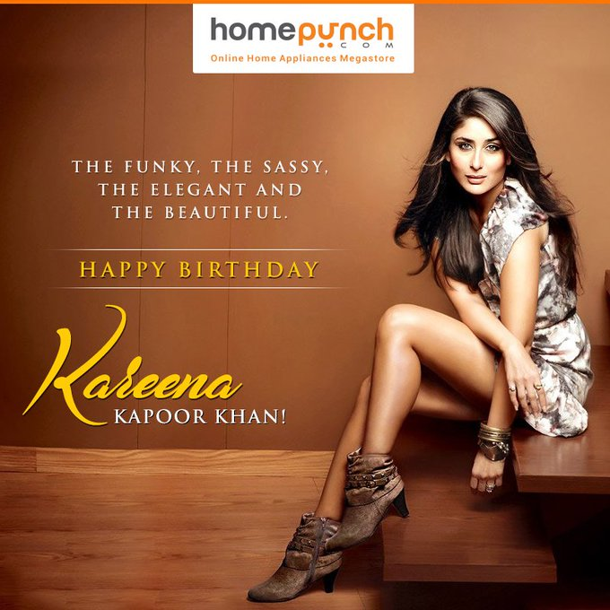 The funky, the sassy, the elegant and the beautiful. Happy Birthday Kareena Kapoor Khan!