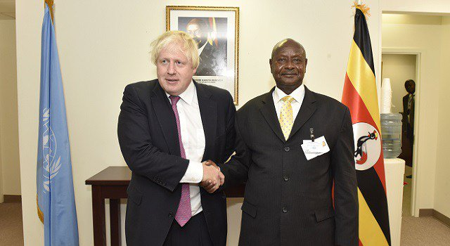 Museveni, Boris Johnson discuss South Sudan, Burundi