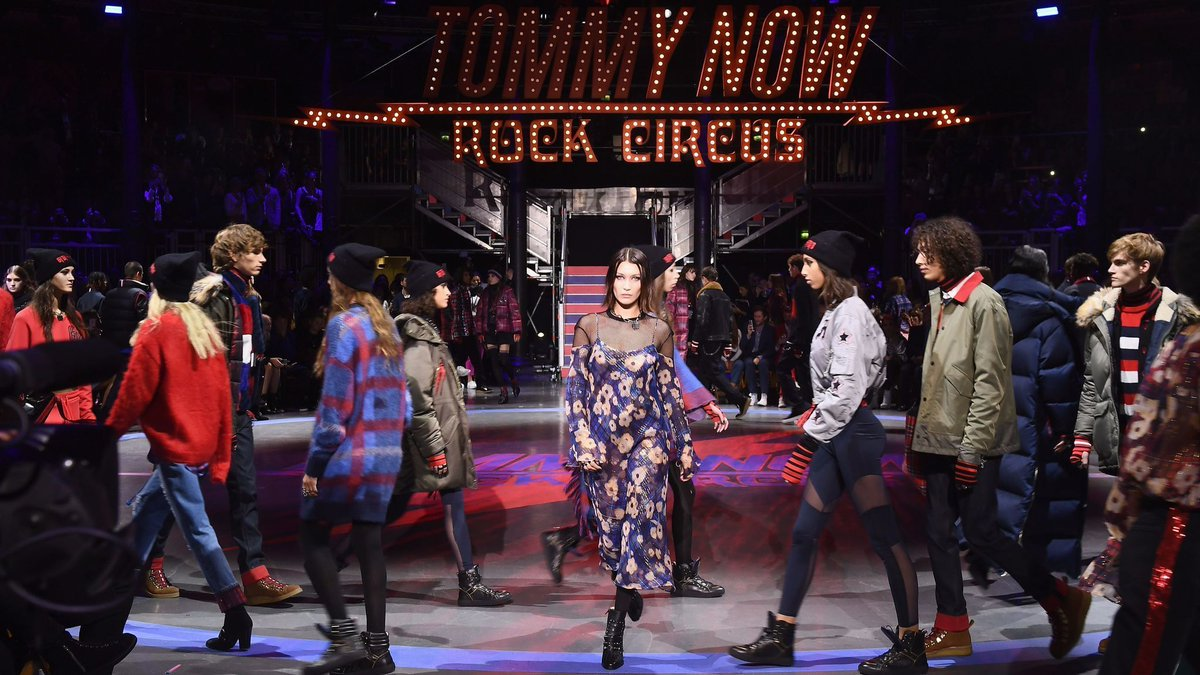 Tommy Hilfiger and Gigi Hadid storm London Fashion Week with their rock 'n' roll-inspired collection