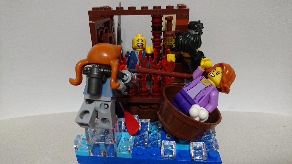 「レゴ的な作品♪」SIMハウス1010その46SIM House10×10-No.28~クラゲ桟橋~セットの箱絵をイメー