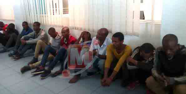 Eight Ethiopians held over illegal immigration