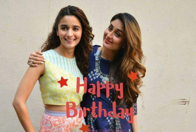 Happy birthday kareena kapoor with aliaa