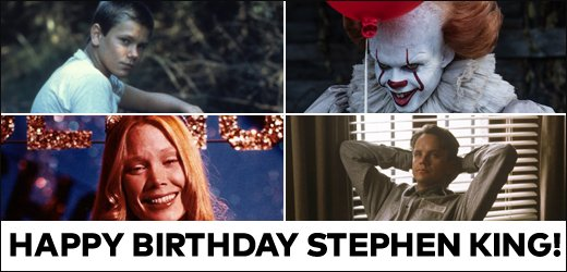 Happy birthday Stephen King! What are your fave movie adaptations of Stephen King\s books?