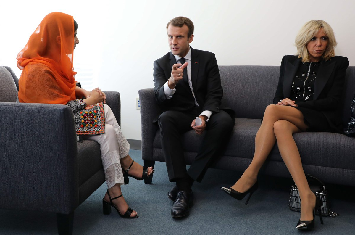 french president macron wife