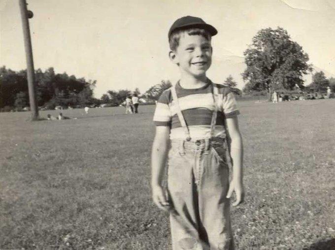 Happy 70th birthday to Stephen King. Photo c.1952.