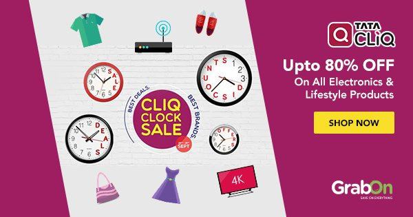 RT @GrabOnIn: #Shop, Like The Heaven Is On Earth With This Amazing #Sale. #CliqClockSale https://t.co/APO7z97QM8 https://t.co/ommxaPn9zz