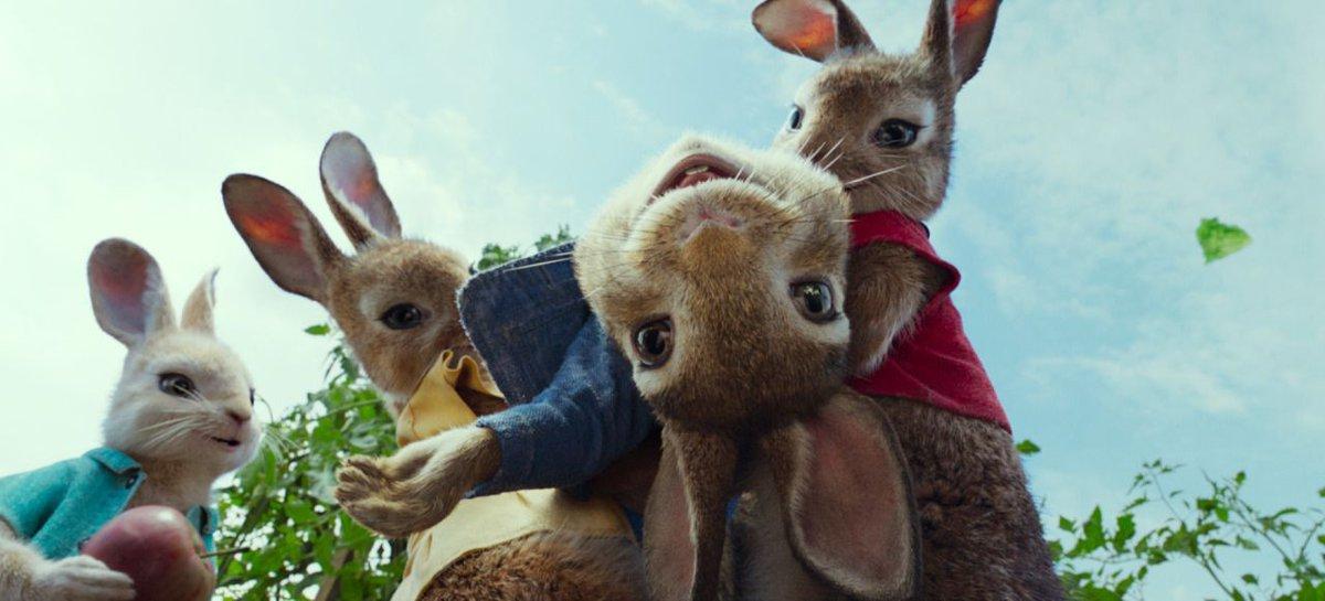 Rascally #JamesCorden wreaks havoc in exclusive 'Peter Rabbit' trailer...