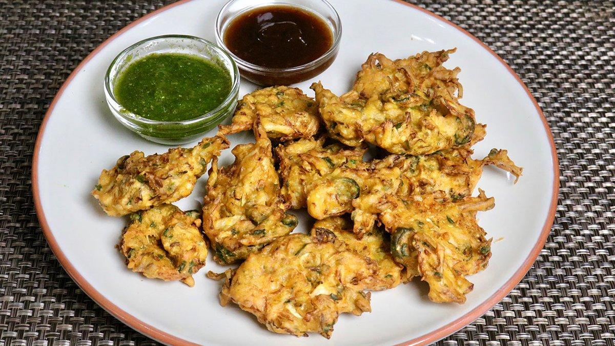 Cabbage Pakora (Bhajia) - Manjula's Kitchen