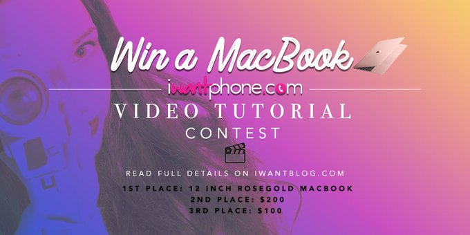 How'd you like to win a 12-inch Macbook? https://t.co/xa73mUhNVr We're giving one away! #iWantPhone https://t