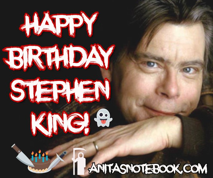 Happy birthday to the world\s most famous writer of scary stories, Stephen King.