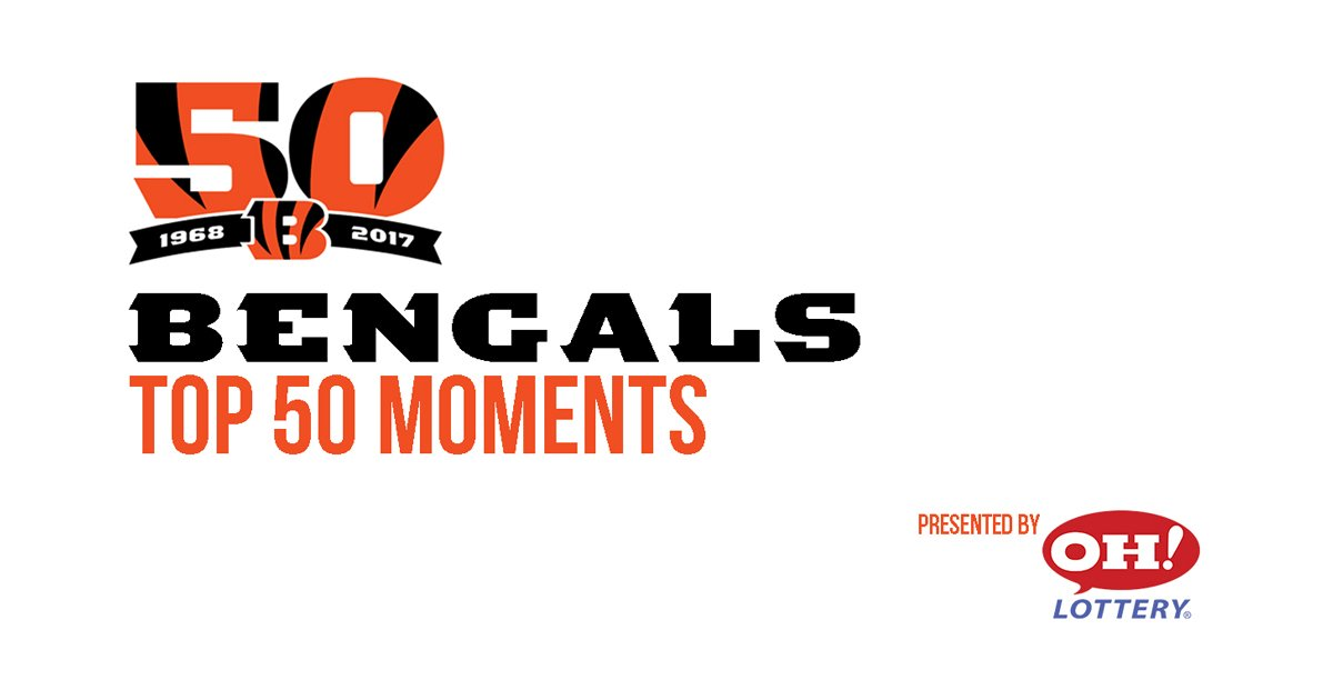Here's today's Top 50 Moment pres. by @OHLottery: https://t.co/7a4262LNRU  #Bengals50 https://t.co/syxOaRzNMZ