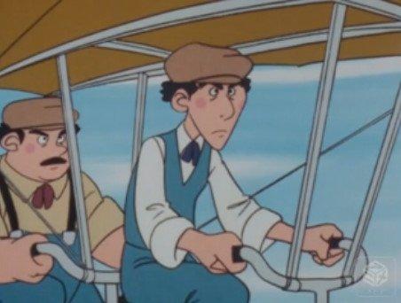 第16話……ライト兄弟の時代に訪れる話だが、実際に木江田博士が試験飛行中に彼の元へ訪れており、人力飛行機の完成に力を貸し