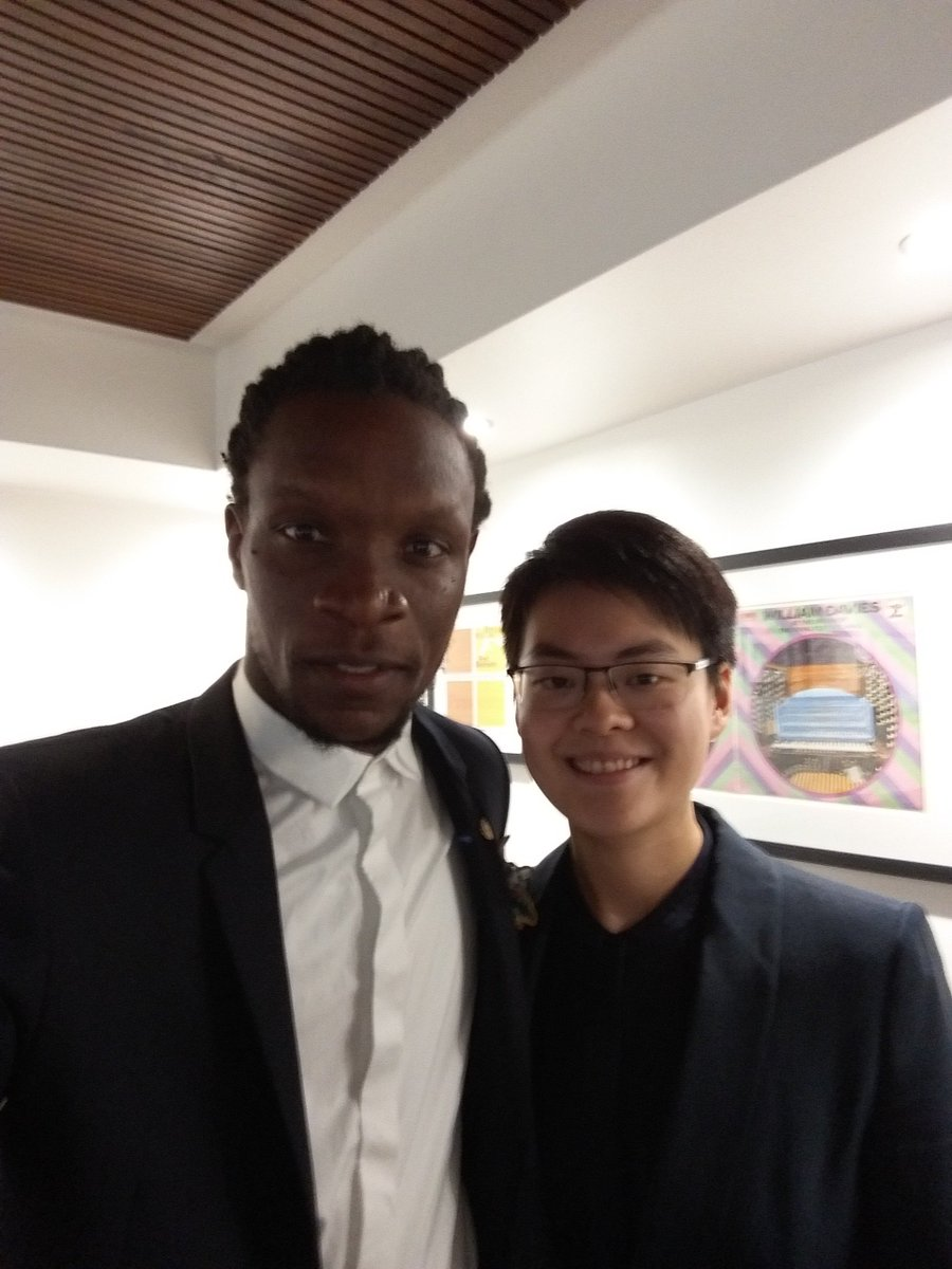 test Twitter Media - RT @maryjean_chan: My @ForwardPrizes claim to fame! #selfieinsuits with the amazing Ishion Hutchinson https://t.co/UgpY2IvtBD