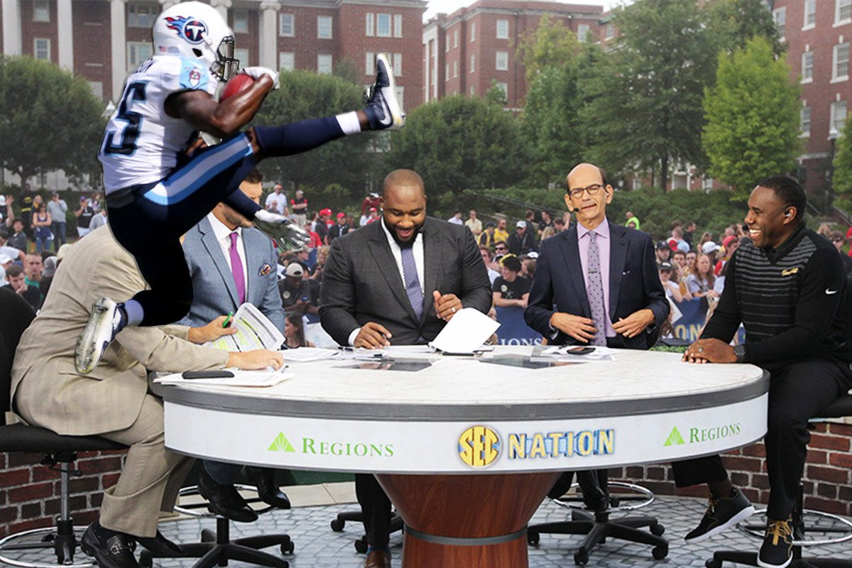 Hey , how about an #SECNation edition? Watch out Paul!  SEC Na...
