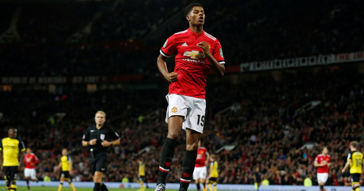 Marcus Rashford's Carabao Cup double reminds Manchester United boss Jose Mourinho how good a central striker he is