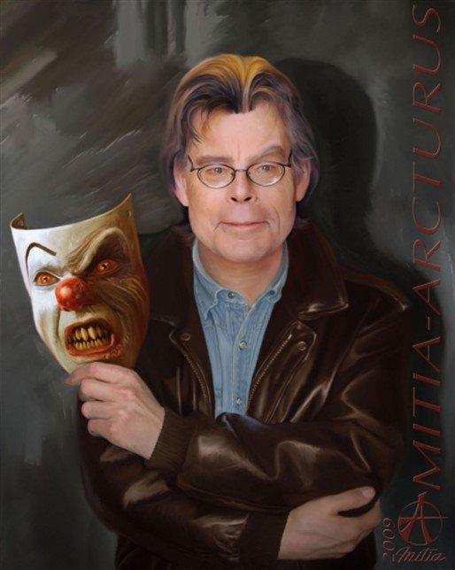 Happy Birthday to Stephen King      art by Mitia Arcturus