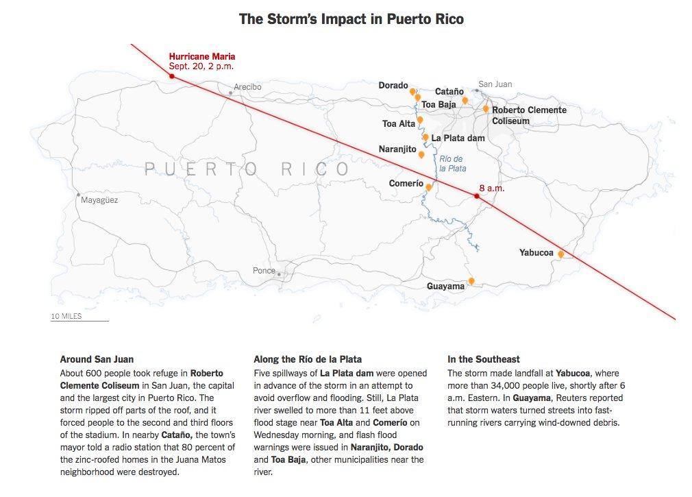 Map: Hurricane Maria's path across Puerto Rico https://t.co/gVIl1HsRvb https://t.co/UTXYSjwI0B