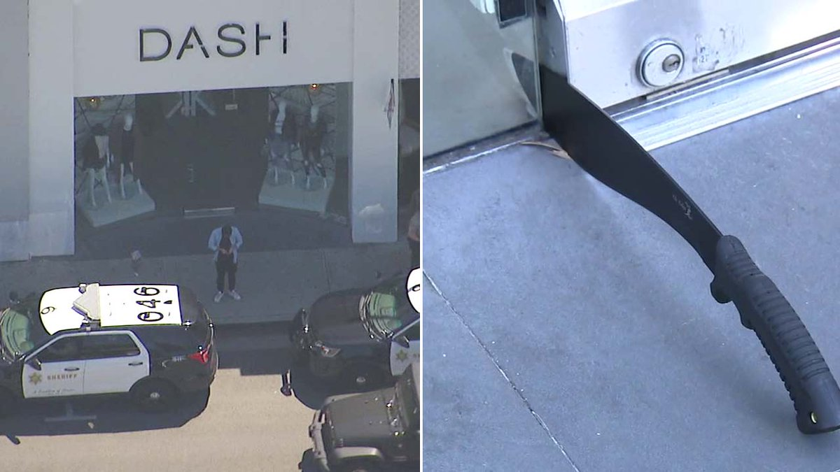 Woman storms Kardashians' Dash store in West Hollywood with gun, returns with machete
