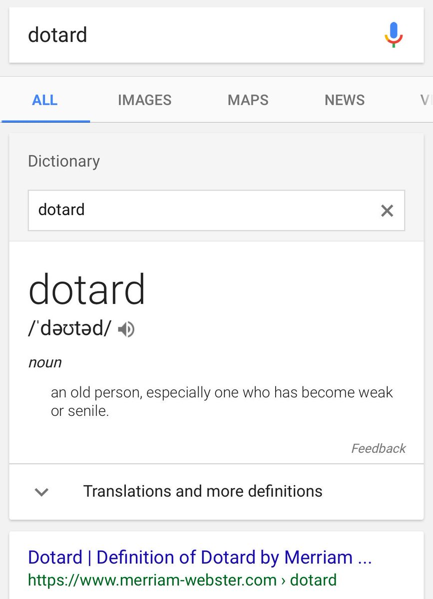 I honestly, actually, had to look it up : #dotard htt...