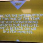 Not just rain - the sun can wreak havoc on Sky TV reception too