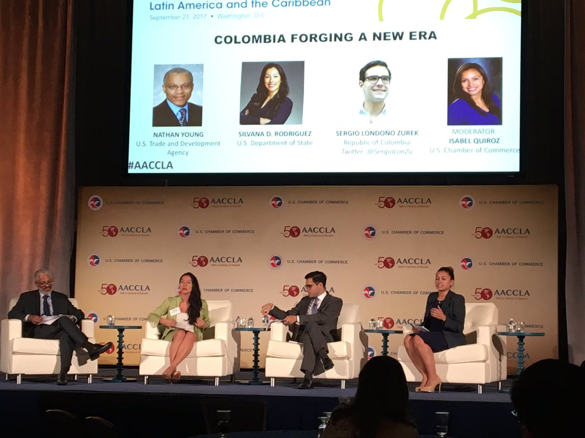 test Twitter Media - Nathan Young of USTDA, Silvana Rodriguez of State & @sergiolonzu discuss Colombia's new era w/ Isabel Quiroz of the US-Colombia Biz Council https://t.co/IPLM5hQwnc