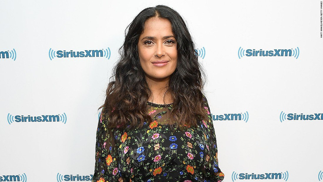 Salma Hayek, a native of Mexico, is doing her part to gather donations for earthquake relief