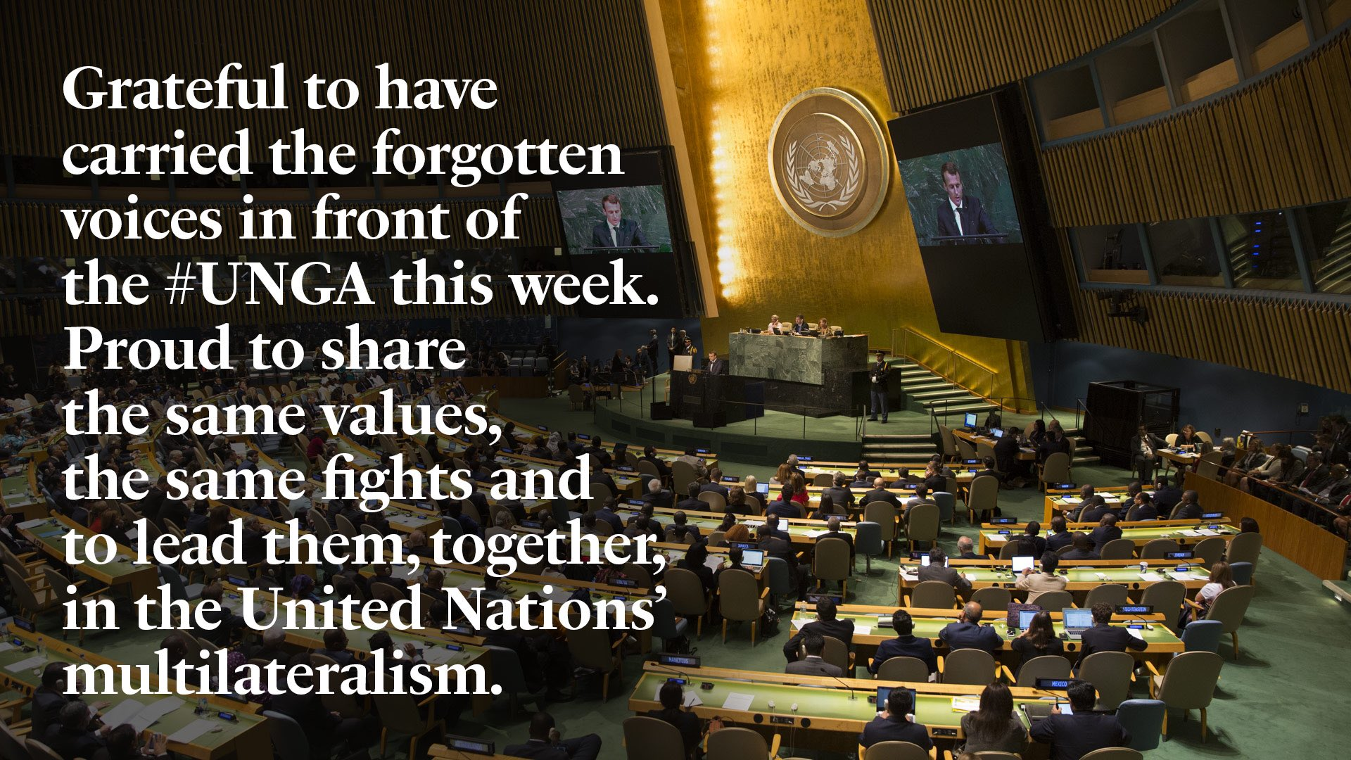 Grateful to have carried the forgotten voices in front of the #UNGA this week. https://t.co/LjmN4AfIUD