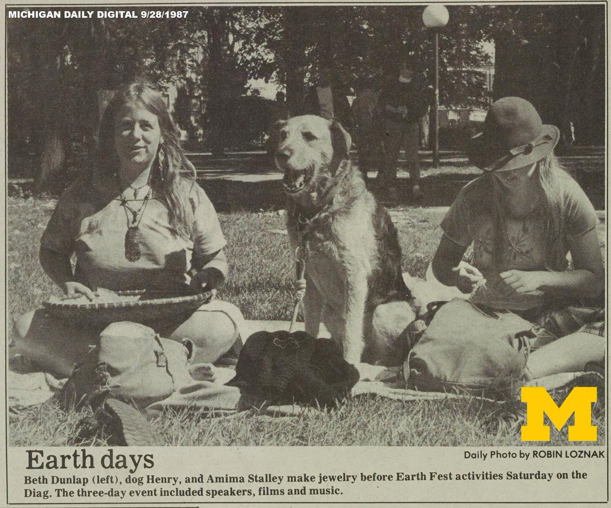 U-M has been celebrating Earthfest and the planet for more than 20 years! Happy EarthFest! #ThrowbackThursday https://t.co/PKlbKG7qO9