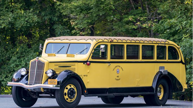 @TheRealAutoblog: For sale: This 1937 Yellowstone tour bus is the ultimate party cruiser: https://t.co/5hr7gxUOjZ https://t.co/tv0I5xQnki