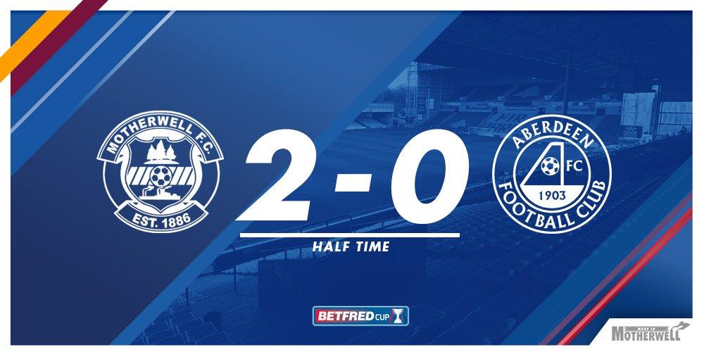HT: Motherwell 2 - 0 Aberdeen The Steelmen will take a deserved two g...