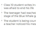'Scared To End Life', Student Playing Blue Whale Writes In Exam
