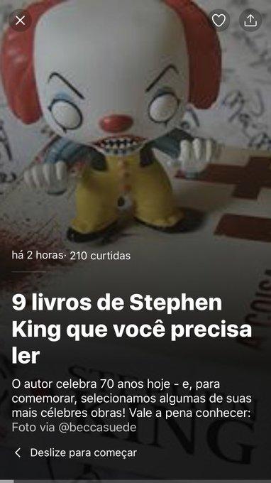 Hj é niver de Stephen King! Happy Birthday!