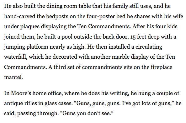 This Roy Moore Profile Is Full Of Incredible Details And Quotes Enchanting Roy Moore Quotes