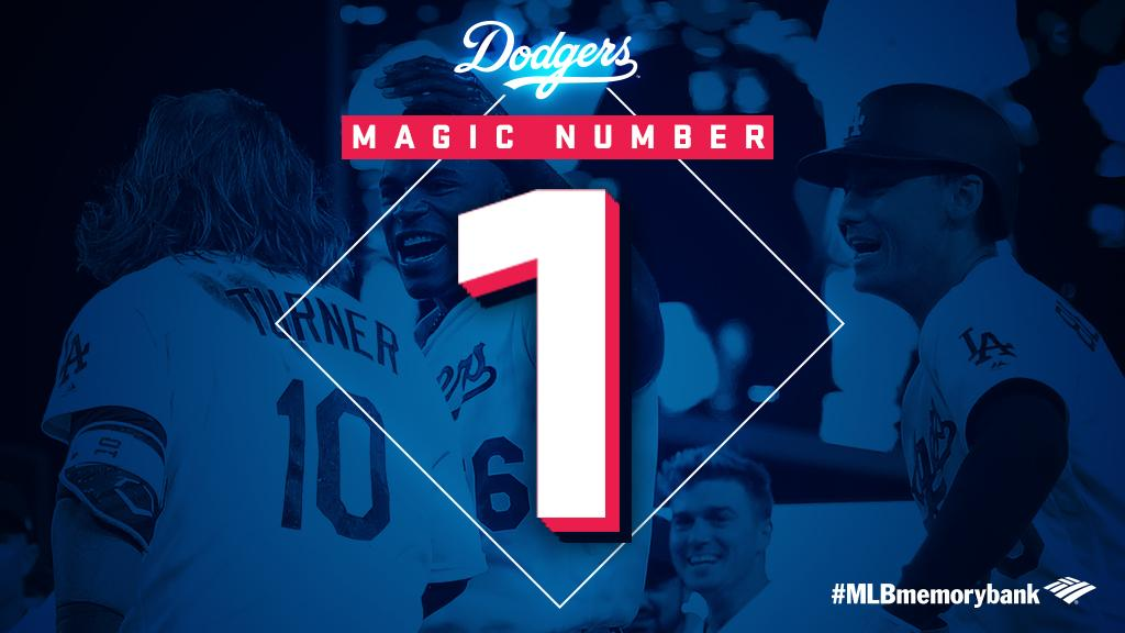 And then it was 1.  @Dodgers close in on NL West title. https://t.co/UdarCVTKHu https://t.co/7cXy96IhXD