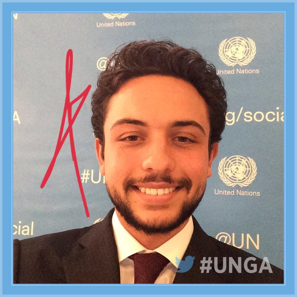 Photo: @RHCJO Crown Prince Al Hussein bin Abdullah II after delivering Jordan's remarks at #UNGA https://t.co/KYClG5ZXTD