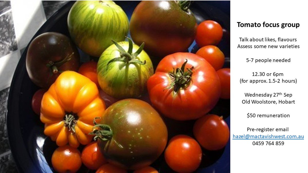 still looking for a few tomato lovers in #Hobart...