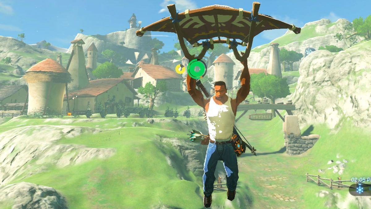 Modders have put GTA's CJ and The Witcher's Geralt into Zelda: Breath of the Wild https://t.co/VQmPgAl8O0 https://t.co/vq7gANvQxt