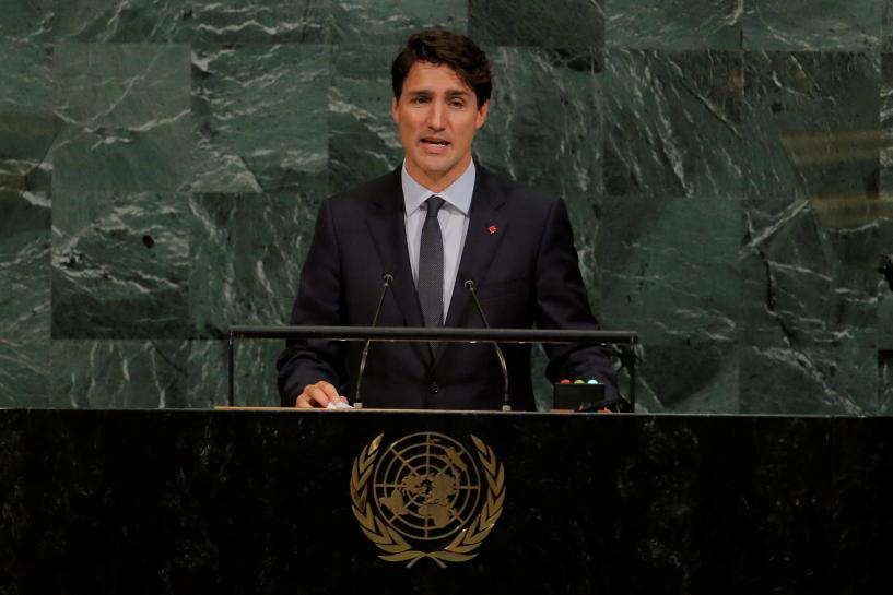 Trudeau confronts Canada's failure of indigenous people in U.N. speech