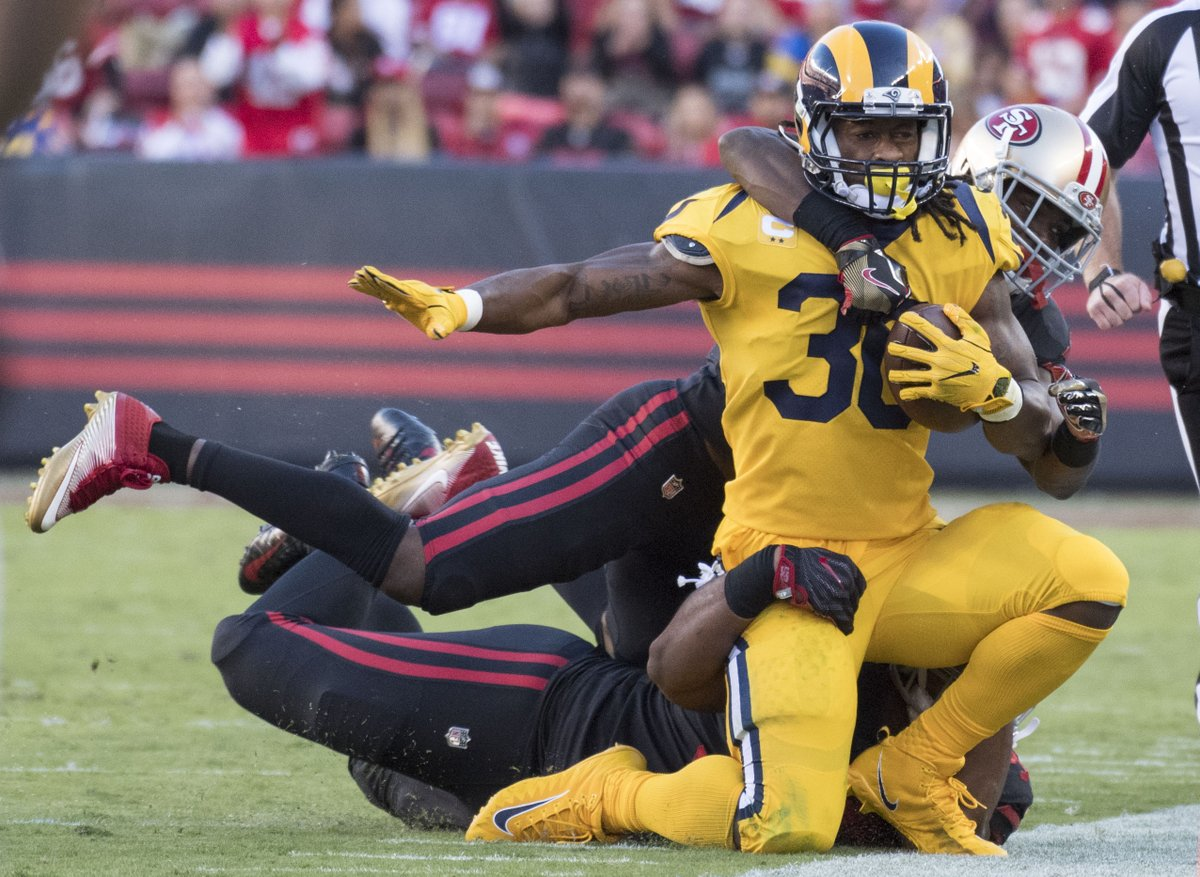 Todd Gurley in 16 games last season: 6 total TD Todd Gurley in 2.5 ga...