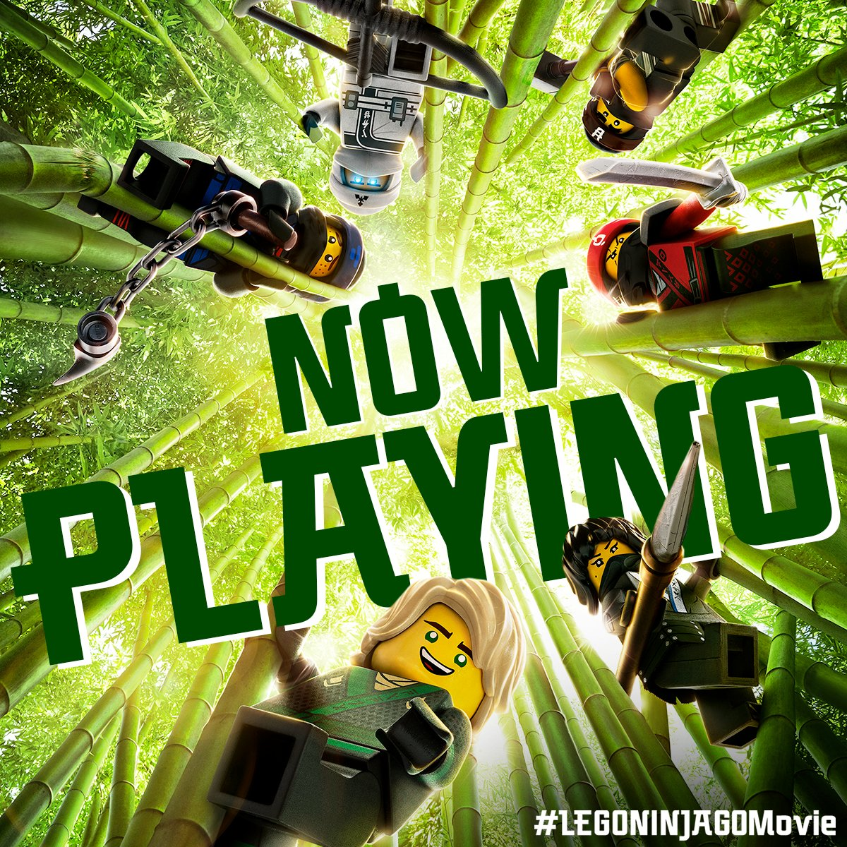 RT @NINJAGOmovie: #LEGONINJAGOMovie is NOW PLAYING! Gather your Wu Cru and see it in theaters this weekend! https://t.co/ztfzagj8Bm