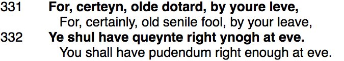 """test Twitter Media - """"Dotard"""" = 'feeble-minded person' (from """"dote"""") goes back to Chaucer, in the raunchy Wife of Bath's Prologue.  https://t.co/TNr6zj5tfm https://t.co/hVx01HOLdW"""