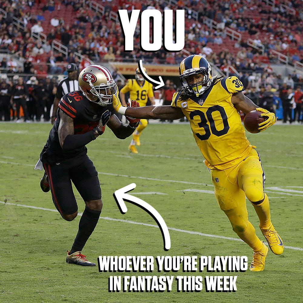 Tag your opponent if you started Todd Gurley this week.