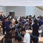 iPhone 8 launch draws crowds to Apple Store at Orchard Road