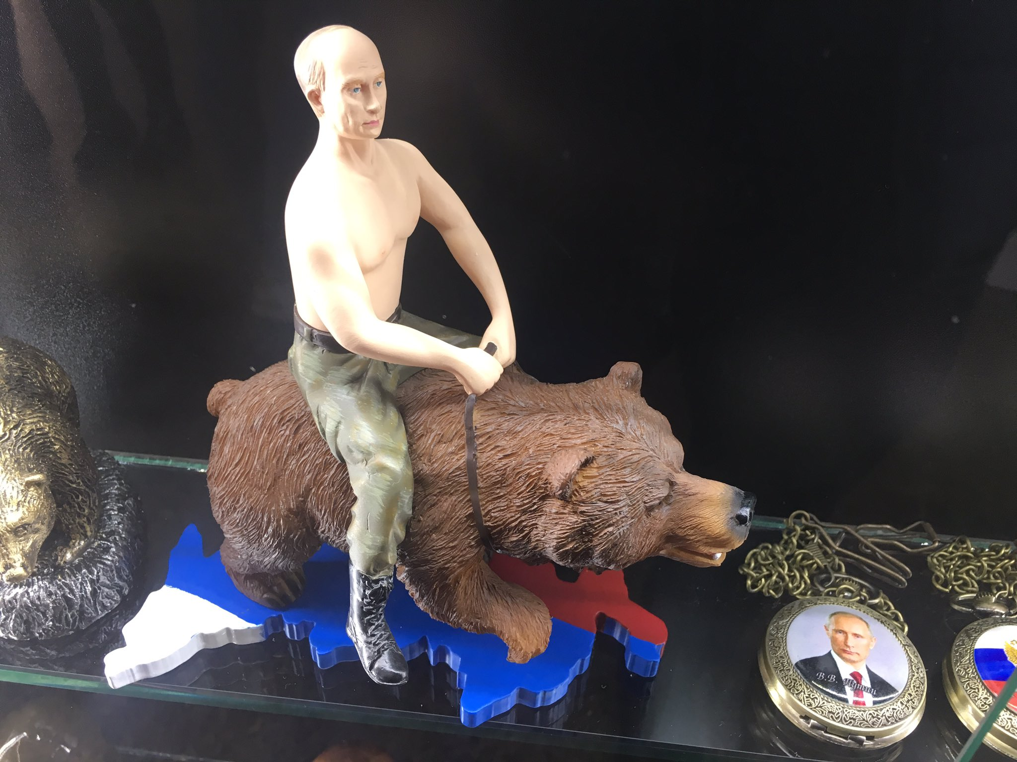 From Russia with love. Putin/bear souvenir on sale in Moscow today. https://t.co/NVAMP64aYA