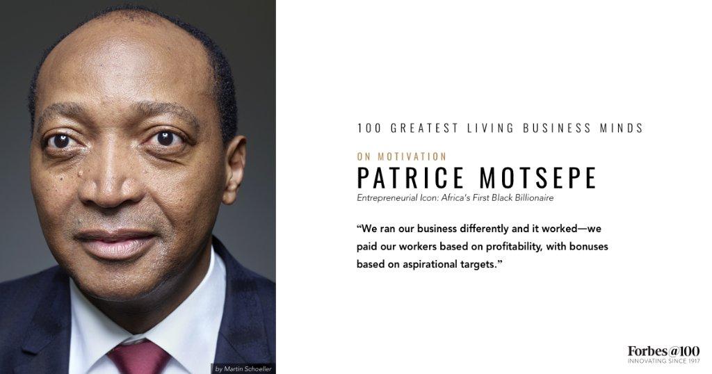 Patrice Motsepe, Africa's first black billionaire, on motivation https://t.co/4bAefq9HrH #ForbesAt100 https://t.co/2EohWOeLLf
